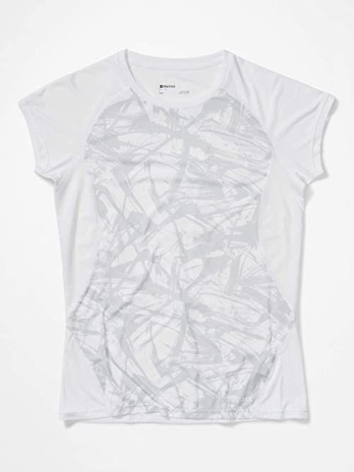 Marmot damska kryształowa koszulka z krótkim rękawem na zewnątrz z krótkim rękawem White Race Line XS