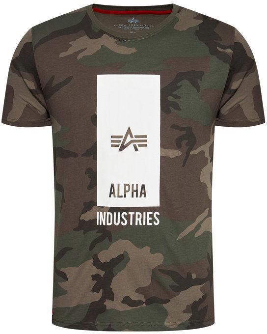 Alpha Industries T-Shirt Logo 126547C Zielony Regular Fit