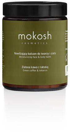 Nawilżający balsam do twarzy i ciała Zielona kawa z tabaką Mokosh 180 ml