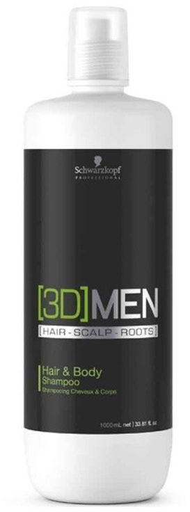 Schwarzkopf Professional Szampon do włosów i ciała 3Dmen 1000ml