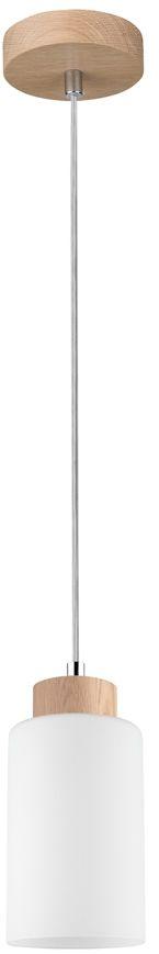 Spot Light 1720174 Bosco lampa wisząca drewno dąb olejowany klosz szkło biały 1xE27 60W 10cm