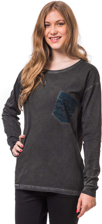 t-shirt damski HORSEFEATHERS MATE L/S TOP (washed black)