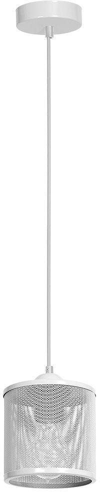 Milagro LOUISE WHITE MLP654 lampa wisząca biała klosz metalowa siatka regulacja wysokości 1xE27 12cm