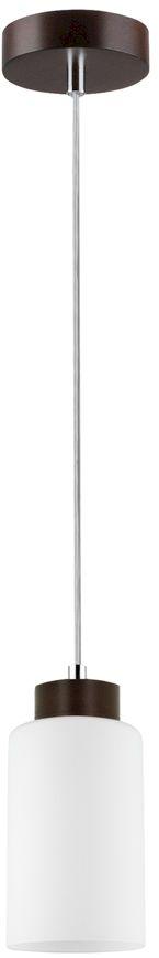 Spot Light 1720176 Bosco lampa wisząca drewno orzech/transparentny klosz szkło biały 1xE27 60W 10cm