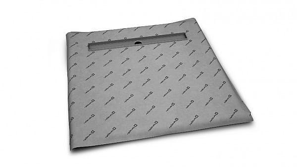 Radaway kwadratowy brodzik podpłytkowy 119x119 cm z odpływem liniowym i syfonem 5CL1212A/5R095X/5SL1