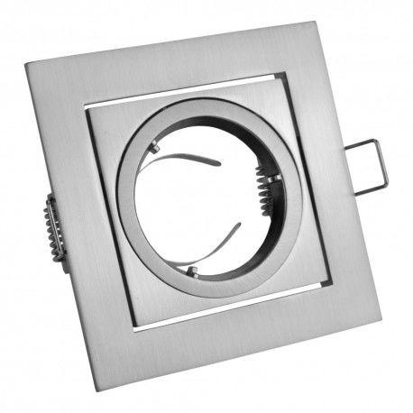 Oprawa sufitowa punktowa - kwadratowa uchylna aluminiowa VILA inox OP-VILAKW-02 GTV 7532