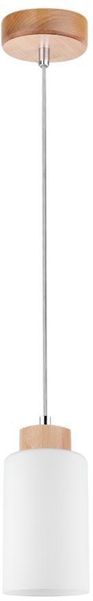 Spot Light 1720160 Bosco lampa wisząca drewno brzoza transparentny klosz szkło biały 1xE27 60W 10cm