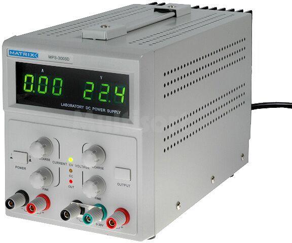 Zasilacz laboratoryjny Kanały:2 funkcja stand-by, 0-30V/3A i 5V/1A