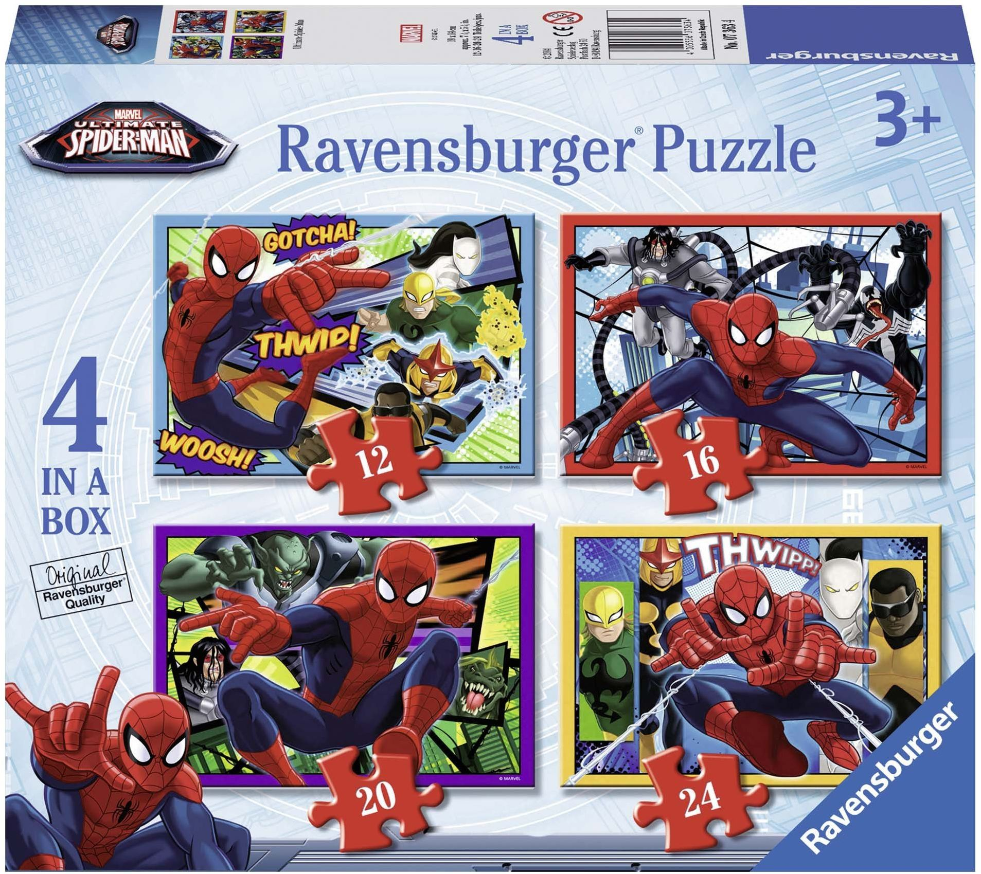 Ravensburger Ultimate Spider-man 4 in A Box Jigsaw puzzle