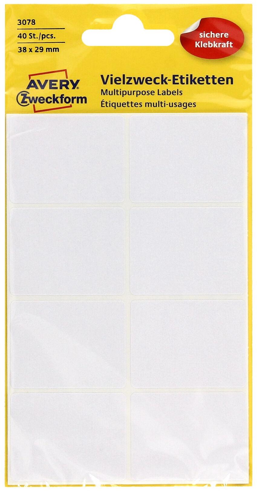 Etykiety uniwersalne 38x29/40 białe Zweckform 3078