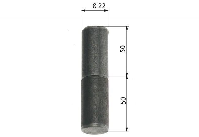 Zawiasa budowlana toczona 22/80 mm z kulką