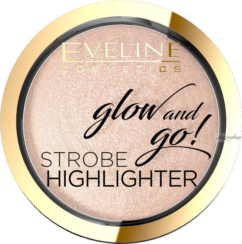 Eveline Cosmetics - Glow and Go! Strobe Highlighter - Wypiekany rozświetlacz do twarzy - 01 - CHAMPAGNE