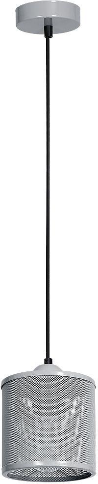 Milagro LOUISE GREY MLP641 lampa wisząca klosz siatka szara metalowa 1xE27 12cm
