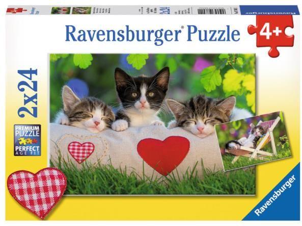 Puzzle 2x24el Śpiące kocięta 078011 RAVENSBURGER (RAP 078011)
