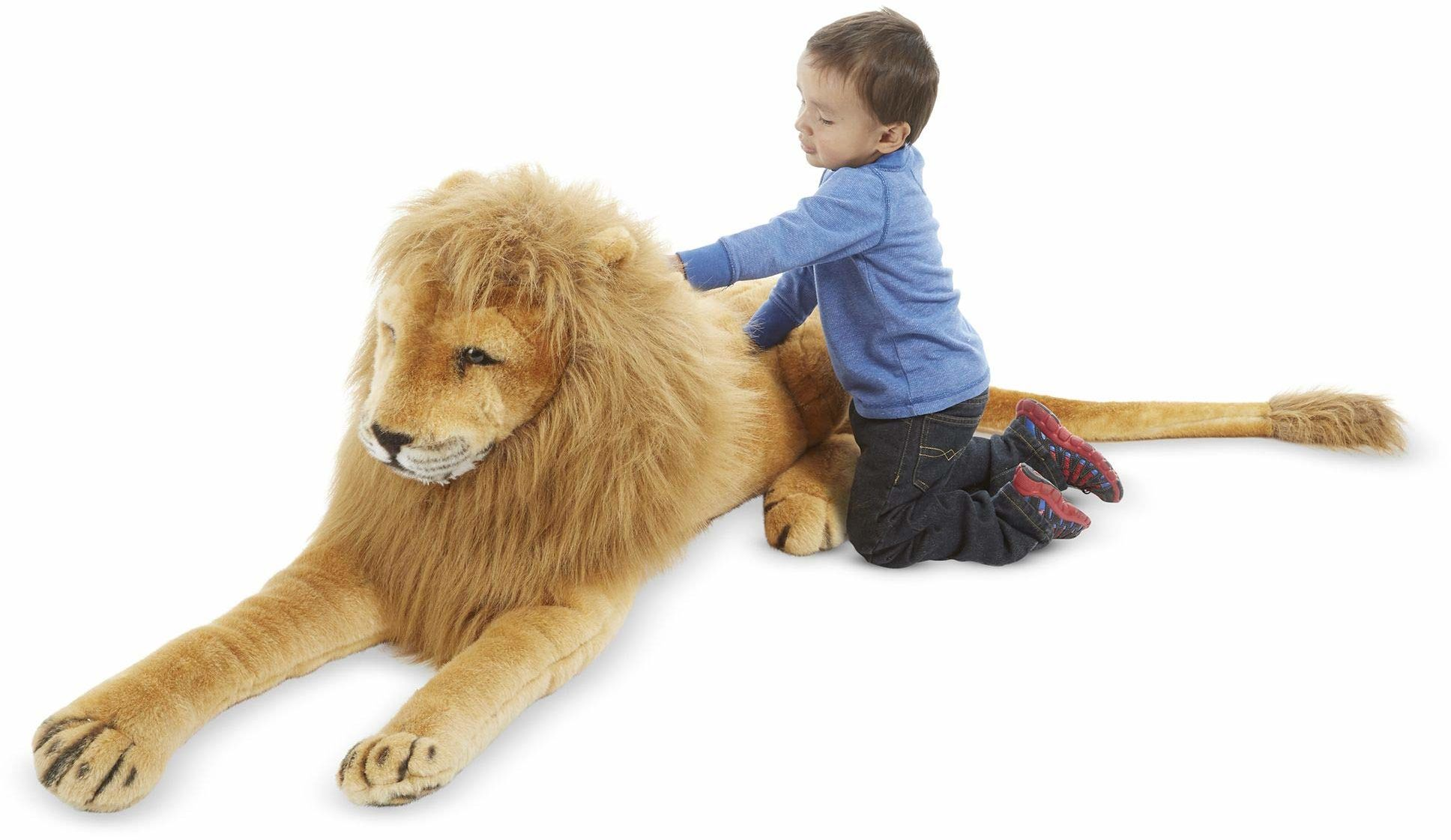 Melissa & Doug Lew - pluszowa miękka zabawka zwierzę w każdym wieku Prezent dla chłopca lub dziewczyny