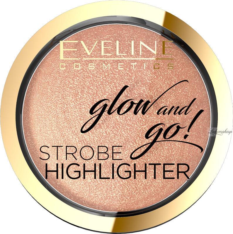 Eveline Cosmetics - Glow and Go! Strobe Highlighter - Wypiekany rozświetlacz do twarzy - 02 - GENTLE GOLD