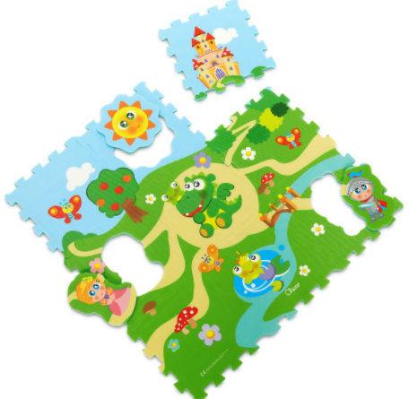 Chicco Miękkie Puzzle Zamek Chicco Mata Zamek 9 sztuk 1 rok +