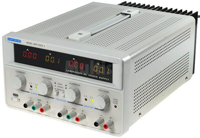 Zasilacz laboratoryjny Kanały:3 2x0-30V 3A i 5V 3A