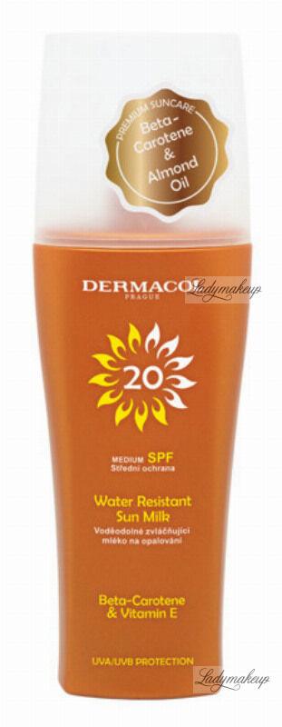 Dermacol - Water Resistant Sun Milk - Wodoodporne mleczko do opalania w sprayu SPF 20 - 200 ml