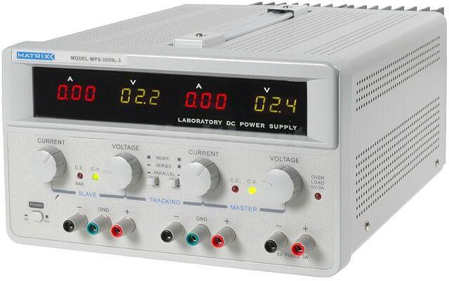 Zasilacz laboratoryjny Matrix MPS-3005L-3 Kanały:3 2x0-30V 5A i 5V 3A