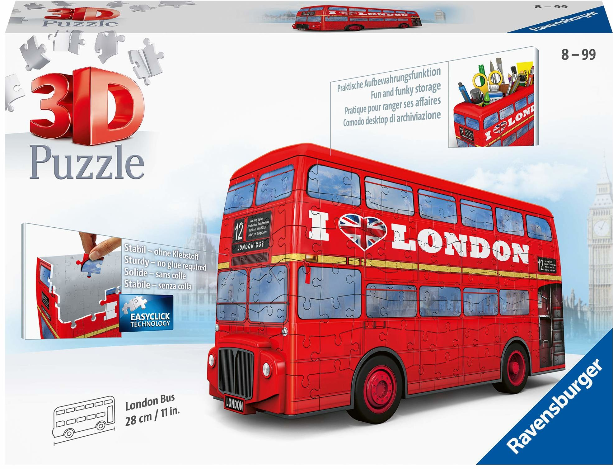 Ravensburger Puzzle 3D 12534 - London Bus - 216 części