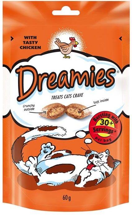 DREAMIES Mega Pack 180g - przysmak dla kota z pysznym kurczakiem