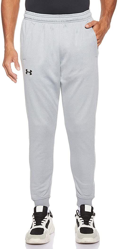 Under Armour męskie spodnie dresowe z długim rękawem, ciepłe i wygodne polarowe spodnie dresowe do joggingu z kieszeniami Steel Light Heather/Black (035) S