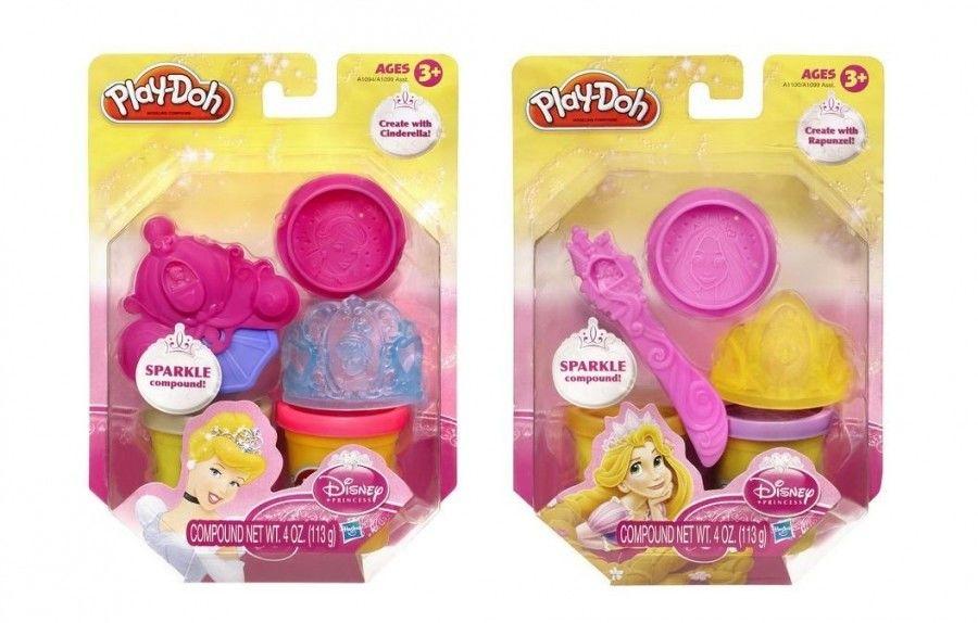 Hasbro Play-Doh Błyszczące Tuby Księżniczki A1099
