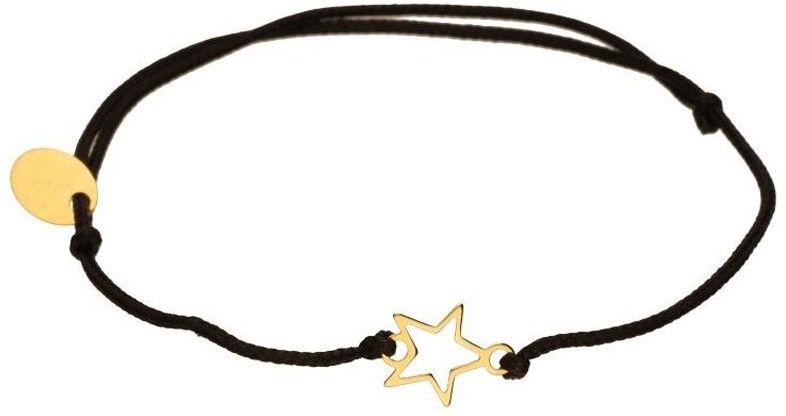 Złota bransoletka 333 sznurkowa z gwiadką