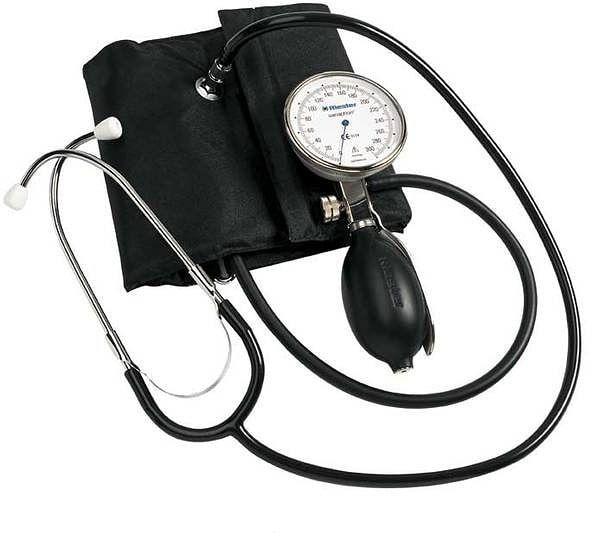 RIESTER Precisa N+-mankiet na rzepy dla dorosłych 24 - 32 cm Ciśnieniomierz zegarowy
