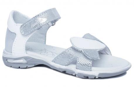 RenBut 21-3272 srebrne sandały sandałki skórzane