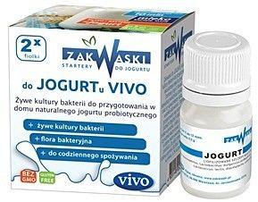 Vivo Zakwaska do jogurtu żywe kultury bakterii - 2 fiolki po 0,5 g
