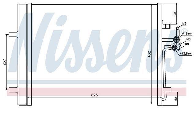 chłodnica klimatyzacji Mondeo Mk4 - Nissens 940044