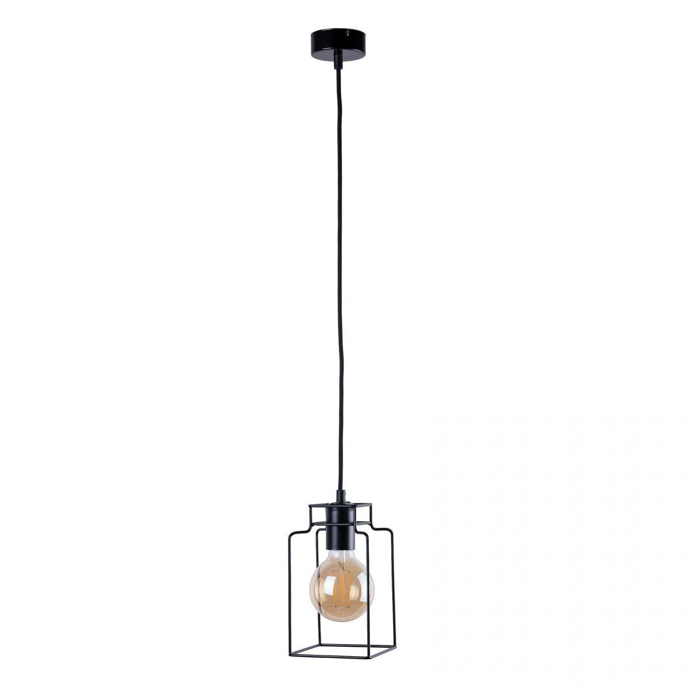 Lampa wisząca druciana Fiord czarna loftowa 9668 - Nowodvorski Do -17% rabatu w koszyku i darmowa dostawa od 299zł !