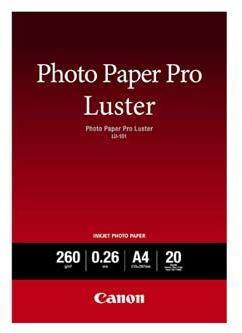 Canon 6211B006 Photo Paper Pro Luster, papier fotograficzny, błyszczący, biały, A4, 260 g/m2, 20 szt.