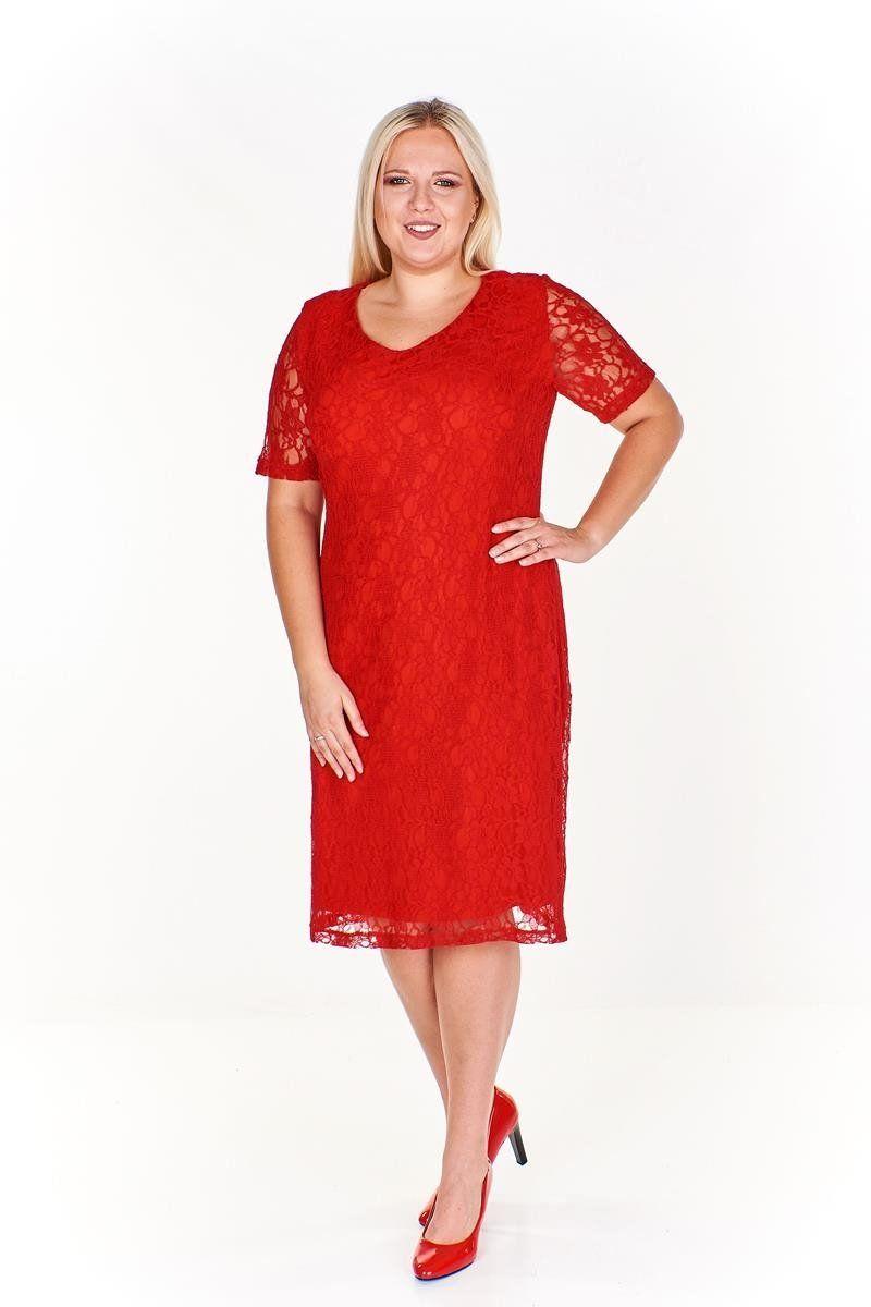 Sukienki Sukienka Suknie FSU776 CZERWONY