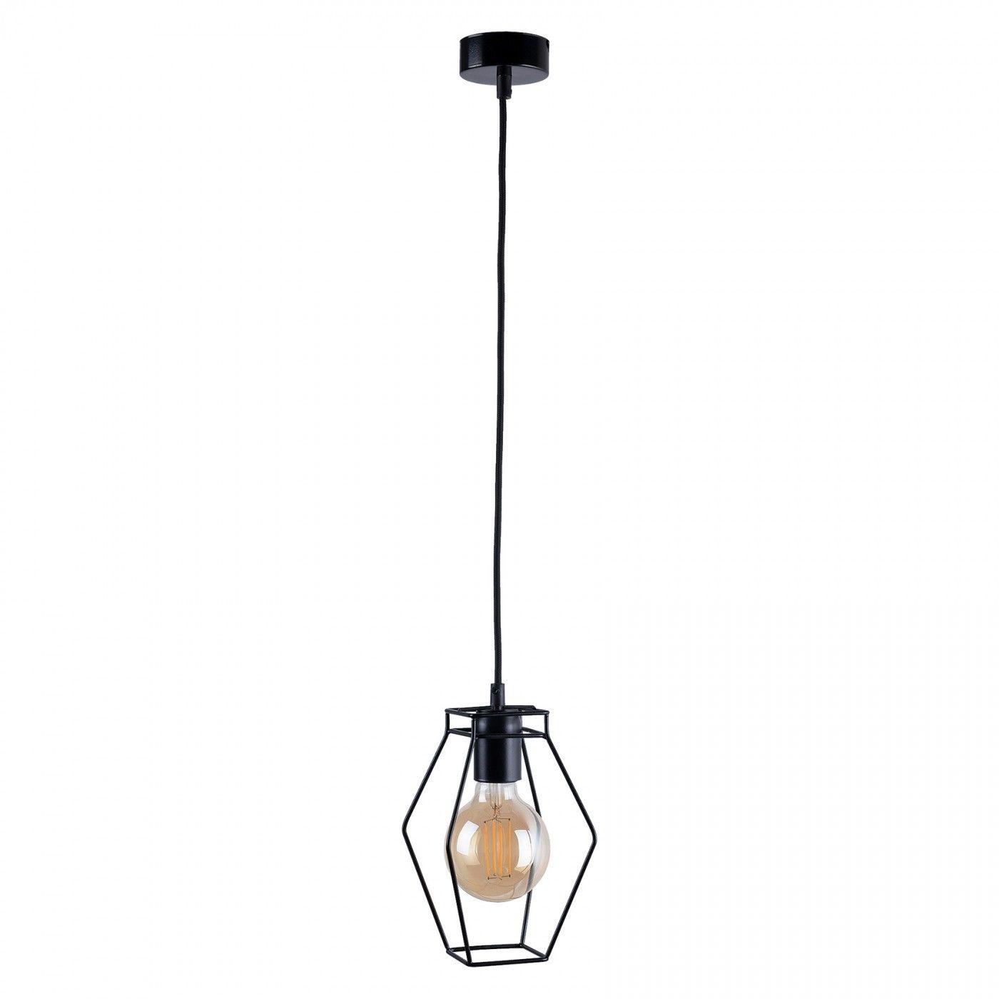 Lampa wisząca druciana czarna Fiord 9670 loftowa - Nowodvorski Do -17% rabatu w koszyku i darmowa dostawa od 299zł !