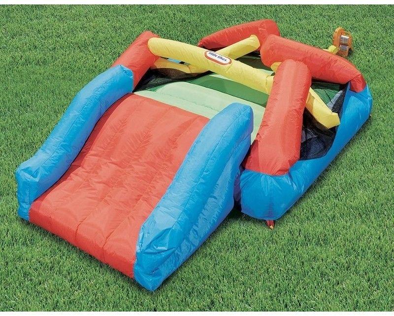 Dmuchany Plac zabaw ze zjeżdżalnią Dmuchaniec Little Tikes Jr. Jump''n Slide