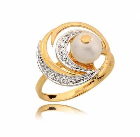 Efektowny pierścionek z perłą