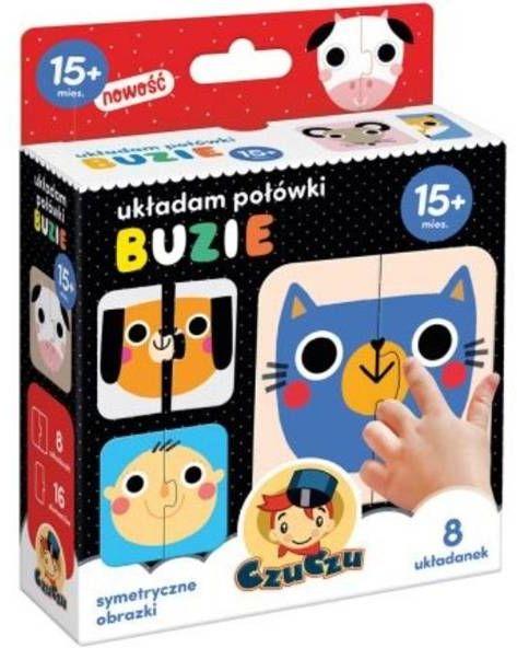 Puzzle Układam połówki Buzie 15+ mies. - Bright Junior Media Justyna Han