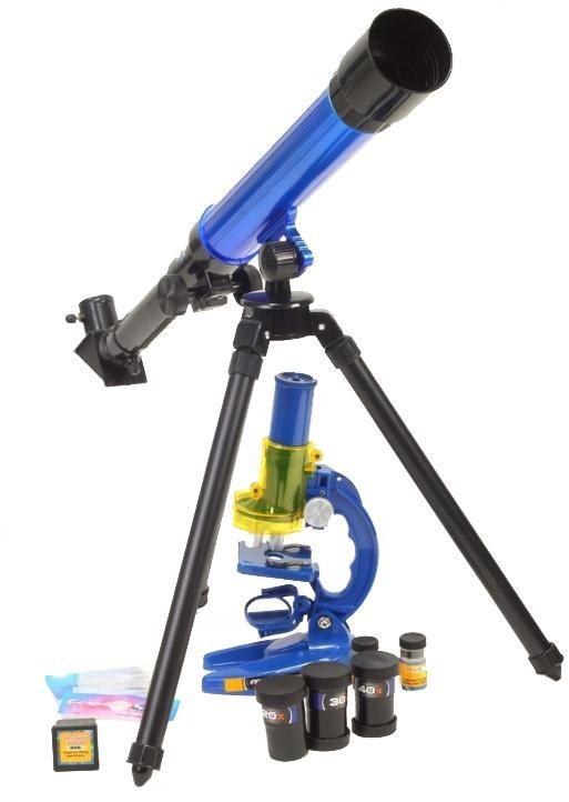 ZESTAW: Edukacyjny Teleskop Astronomiczny + Mikroskop + Wymienne Okulary/Soczewki i Akcesoria.