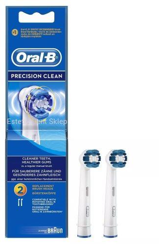 Oral-B BRAUN Precision Clean - klasyczne końcówki do szczoteczki elektrycznej Braun Oral-b 2 szt.