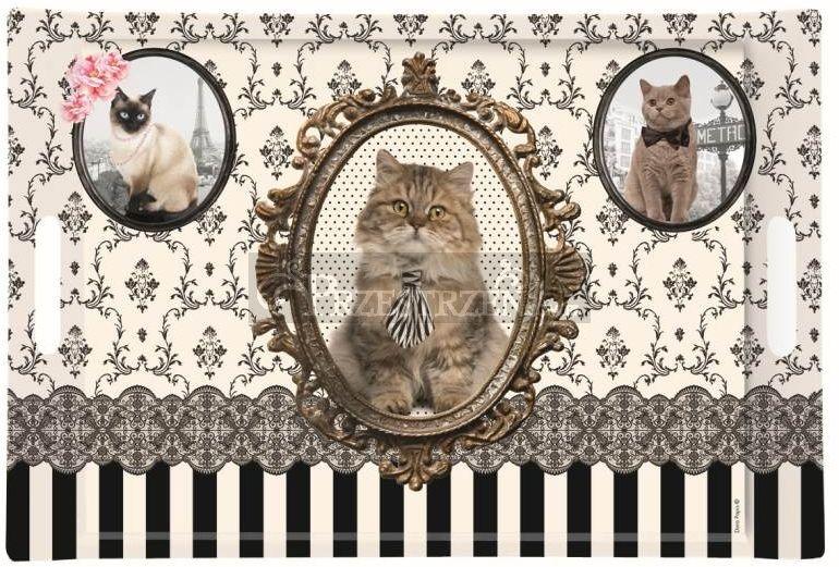 DUŻA TACA DESEROWA - VINTAGE CATS (300 CATS)