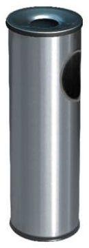 Koszopopielnica 30 l srebrna wys. 69 cm ALDA