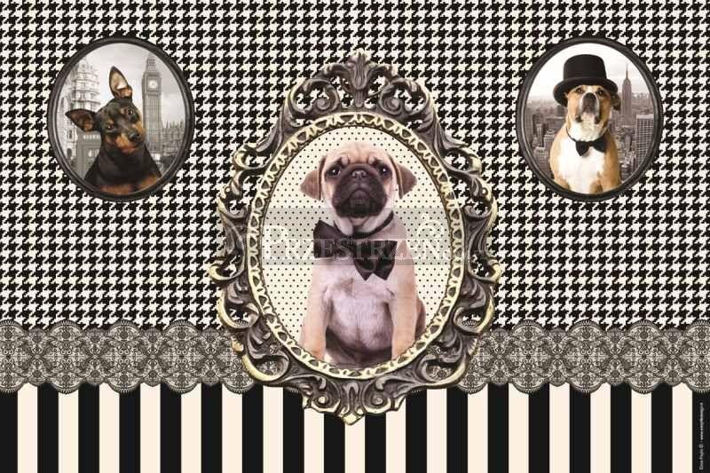 DUŻA PODKŁADKA POLIPRPYLENOWA NA STÓŁ Vintage Dogs - Psy (350 DOGS)