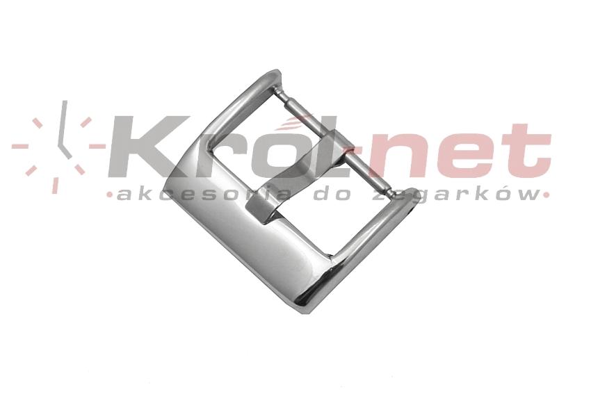 Sprzączka / klamerka srebrna - 18 mm, polerowana