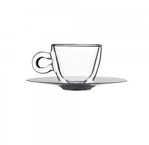 Filiżanka do espresso 0,065 l ze spodkiem ze stali nierdzewnej Stalgast 400901