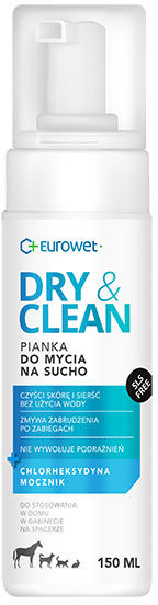 DRY & CLEAN Pianka do mycia na sucho dla Psa i Kota 150 ml
