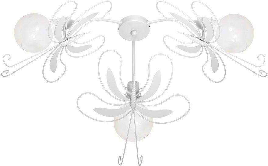 Milagro PAŹ WHITE MLP5352 plafon lampa sufitowa biały metal motyl trzy źródła światła 3xE27 76cm