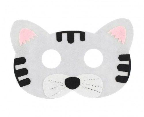 Maska filcowa Kotek szary
